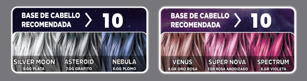 Base de cabello recomendado · CK Galaxy Colors